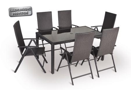 Stolová zostava - VALENCIA 6-AL - 6x kreslo, stôl -V-GARDEN