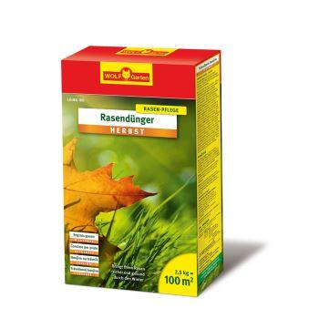 Hnojivo granulov. - WOLF - LK-B 100 - trávnik - jesenné - 100 m2