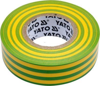 Izolačná páska 15x10 - pre izoláciu elektrických káblov - žlto zelená