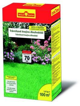 Hnojivo granulov. - WOLF - LD 100 A Trávnikové hnojivo s dlhodobým účinkom